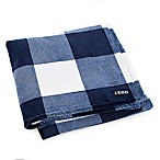 IZOD® Buffalo Plaid Throw Blanket in Blue/White