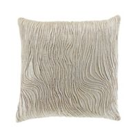 Wave Square Throw Pillow in Sand