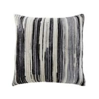 Ribbed Watercolor Square Throw Pillow in Grey