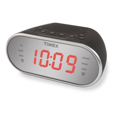 Timex® Dual Alarm AM/FM Clock Radio in Black