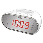 Timex® Dual Alarm AM/FM Clock Radio in White