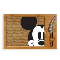 Picnic Time® Mickey Mouse™ Icon Wood Cutting Board & Knife Set