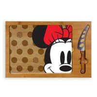 Disney® Minnie Mouse™ Icon Glass Top Tray & Knife Set