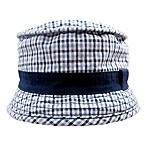 Toby™ Newborn Plaid Woven Bucket Hat in Blue