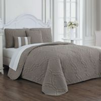Avondale Manor Nolie Queen Quilt Set in Taupe