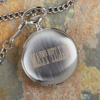 In Memory Engraved Silver Pocket Watch