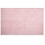 "Home Dynamix Oversized 27"" x 45"" Striped Bath Mat in Coral"