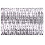 "Home Dynamix Oversized 27"" x 45"" Striped Bath Mat in Grey"