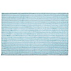 "Home Dynamix Oversized 27"" x 45"" Striped Bath Mat in Blue"
