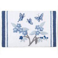 Madison Park Solandis 34-Inch x 21-Inch Bath Rug in Blue