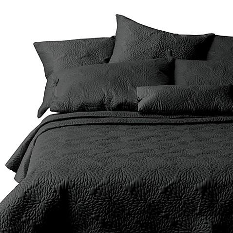 DKNY Chrysanthemum Ebony Quilt, 100% Cotton - Bed Bath & Beyond : dkny chrysanthemum quilt - Adamdwight.com