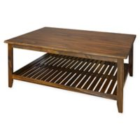 Casual Home Medan Coffee Table with Brown Finish