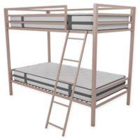 Novogratz Maxwell Twin Over Twin Metal Bunk Bed in Pink