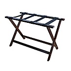 Hotel Style 30-Inch Extra-Wide Folding Luggage Rack in Espresso