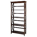 Montego 5-Shelf Bookcase in Walnut