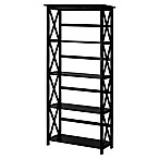 Montego 5-Shelf Bookcase in Black