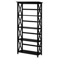 Montego 5-Shelf Bookcase in Black