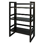 3-Shelf Folding Student Bookcase in Espresso