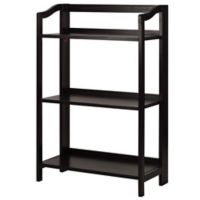 Stratford 3-Shelf Folding Bookcase in Espresso