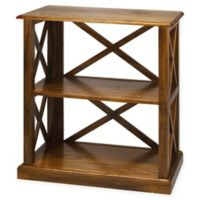Casual Home Bay View 3-Shelf Bookcase in Warm Brown