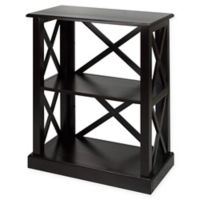 Casual Home Bay View 3-Shelf Bookcase in Warm Black