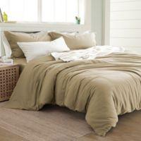Pacific Coast Textiles Linen/Cotton Queen Duvet Cover Set in Natural