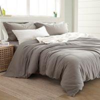Pacific Coast Textiles Linen/Cotton King Duvet Cover Set in Platinum