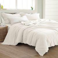 Pacific Coast Textiles Linen/Cotton Queen Duvet Cover Set in White