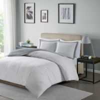 Madison Park Essentials Hayden Reversible Full/Queen Duvet Cover Set in Grey