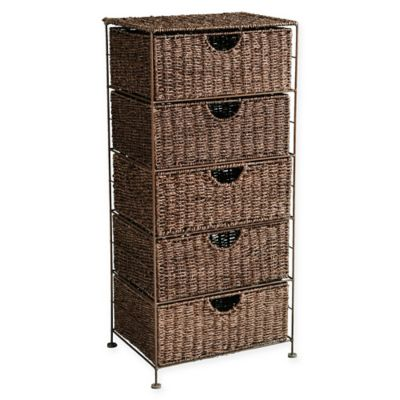 Southern Enterprises Kelsey Seagrass 5-Drawer Storage Tower  sc 1 st  Bed Bath u0026 Beyond & Buy Basket Drawers Storage from Bed Bath u0026 Beyond