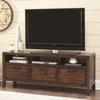 Scott Living Wylder TV Console in Warm Brown