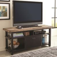 Scott Living Wylder Pine TV Console in Rustic Brown/Black