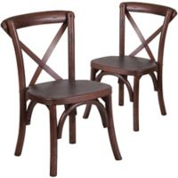 Flash Furniture Kids Cross Back Chairs in Mahogany (Set of 2)