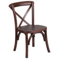 Flash Furniture Kids Cross Back Chair in Mahogany