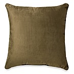 Suede 20-Inch Square Throw Pillow in Leaf Green