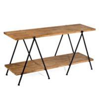 Tripar International 2-Tier Wooden Plank Table in Natural