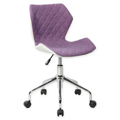 Techni Mobili Modern Height Adjustable Office Task Chair In Purple