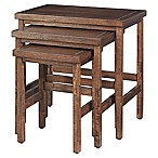 Hillsdale Furniture Franklin Nesting Tables in Walnut (Set of 3)