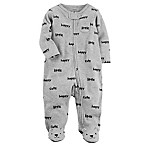 carter's® Size 3M Zip-Front Happy Sleep & Play Footie in Grey