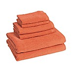 American Dawn Cambridge Bath Towels in Sunset (Set of 6)