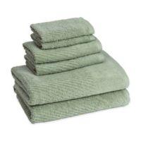 American Dawn Cambridge Bath Towels in Fern Green (Set of 6)