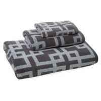 Chippendale 3-Piece Towel Set in Silver/Chrome