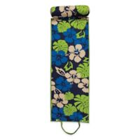 Rolled Floral Beach Mat in Green/Blue