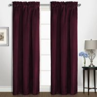 Kate 63-Inch Rod Pocket Window Curtain Panel in Burgundy