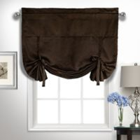 Kate Rod Pocket Tie-Up Valance in Chocolate