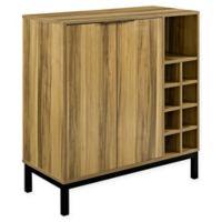 Forest Gate Modern Bar Cabinet with Wine Storage in Teak
