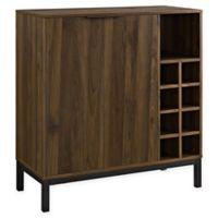 Forest Gate Modern Bar Cabinet with Wine Storage in Dark Walnut