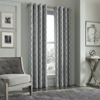 J. Queen New York™ Adorn 108-Inch Grommet Top Embroidered Window Panel in Silver