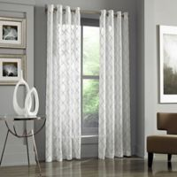 J. Queen New York™ Adorn 95-Inch Grommet Top Embroidered Sheer Window Panel in White