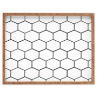Deny Designs Honey Comb by Allyson Johnson Large Rectangular Serving Tray